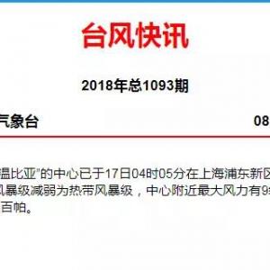 """""""温比亚""""刚在上海登陆,又有一个新台风生成!狂风暴雨继续,接下来的天气......"""